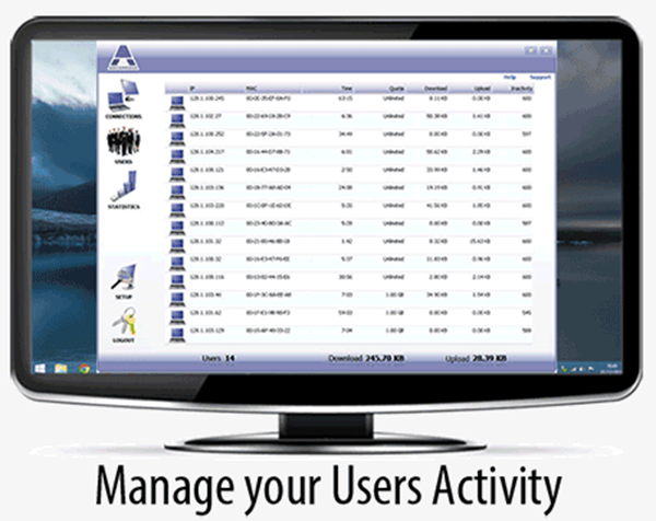 Manage Users Activity with Hotspot